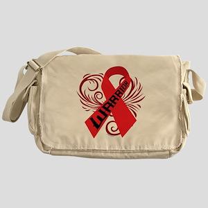 AIDS HIV Warrior Messenger Bag