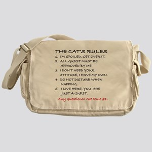 THE CAT'S RULES Messenger Bag