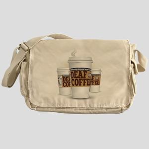 Deaf Coffee Messenger Bag