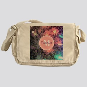 Colorful Mosaic Pattern Personalized Messenger Bag