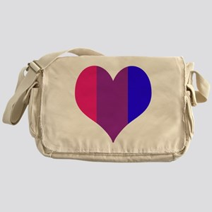 Striped Bisexual Heart Messenger Bag