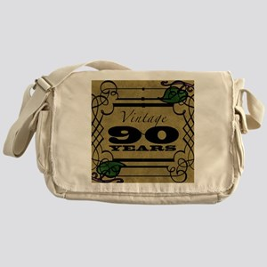 Vintage 90th Birthday (Gold) Messenger Bag