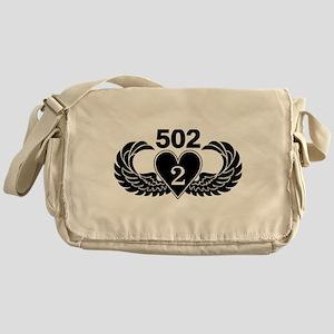 2-502 Black Heart Messenger Bag