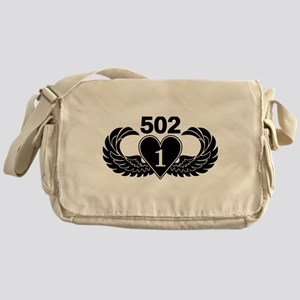 1-502 Black Heart Messenger Bag