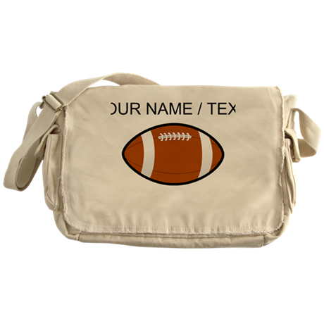Custom Brown Football Messenger Bag