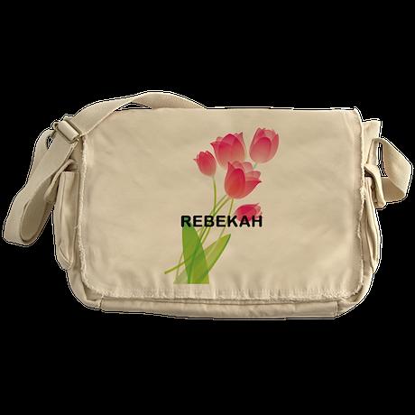 Pink Tulip Roses gift Messenger Bag
