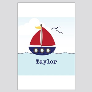 Personalized Nautical Sailboat, Cute Kid's Design