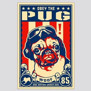 Pug USA Flying Ace! Large Poster