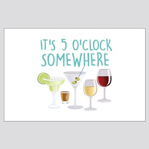 5 O Clock Somewhere Posters