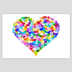 Rainbow Heart of Hearts Large Poster