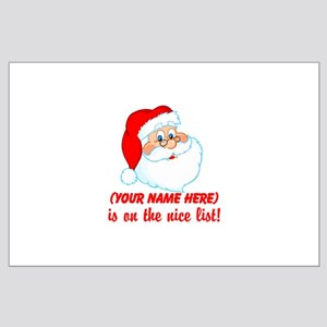 Personalized Nice List Large Poster