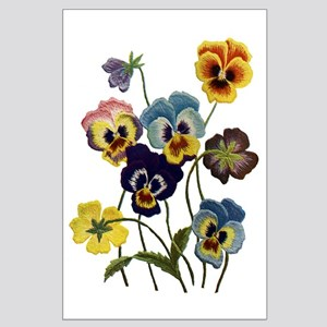 PARADE OF PANSIES Large Poster