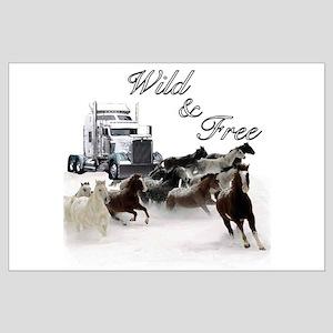 Wild & Free Large Poster