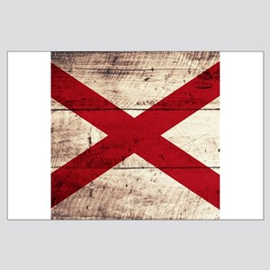 Wooden Alabama Flag3 Posters