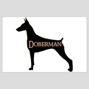 Doberman Large Poster
