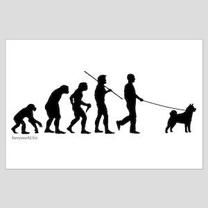 Akita Evolution Large Poster