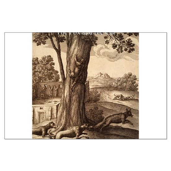 Wenceslas_Hollar_- Fox and the Cat - Aesop - Circ
