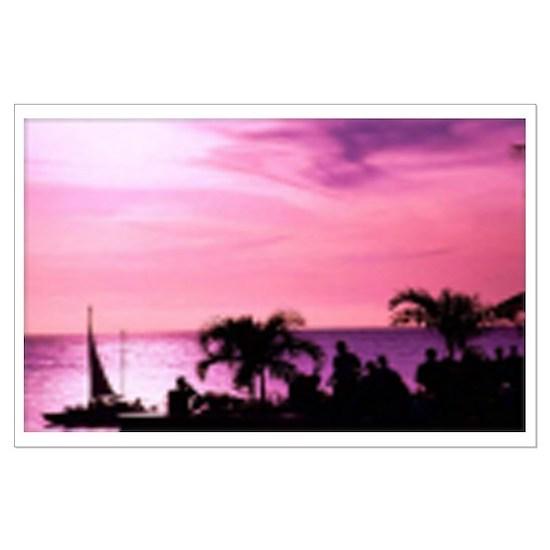 Large Jamaican Sunset Poster