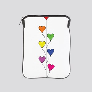 Seven Rainbow Colored Heart Balloons - Vertical iP