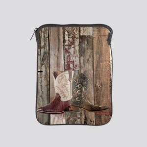 vintage western country cowboy  iPad Sleeve