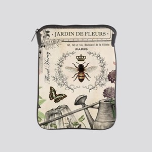 Modern Vintage French Bee Garden iPad Sleeve
