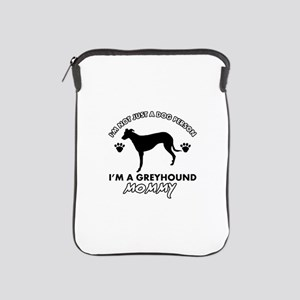Greyhound dog breed designs iPad Sleeve