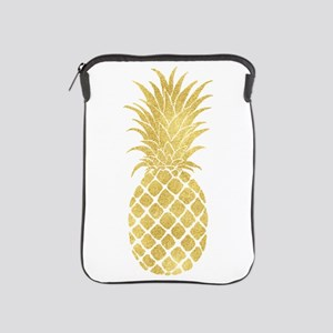 Gold Glitzy Pineapple Ipad Sleeve