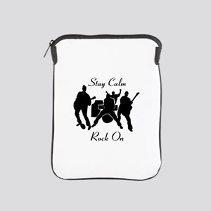 Stay Calm Rock On Toddler T Shirt iPad Sleeve