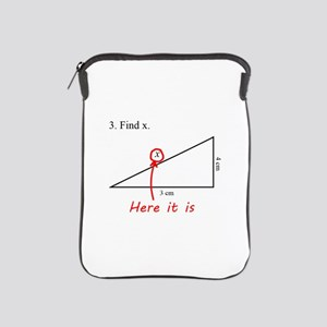 Find x Math Problem iPad Sleeve