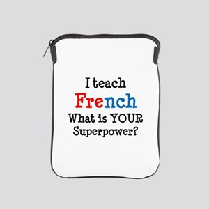 teach french iPad Sleeve