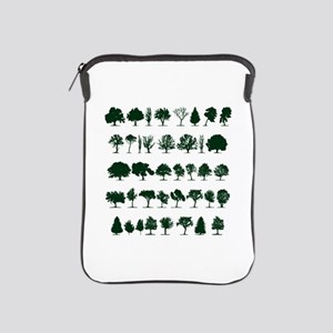 Tree Silhouettes Green 1 iPad Sleeve