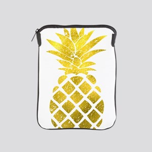 Faux Gold Foil Pineapple iPad Sleeve