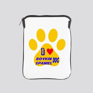 I Love Boykin Spaniel Dog iPad Sleeve