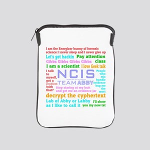 NCIS Abby Quotes iPad Sleeve