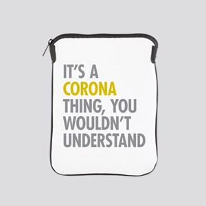 Corona Queens NY Thing iPad Sleeve