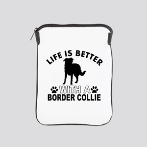 Border Collie vector designs iPad Sleeve