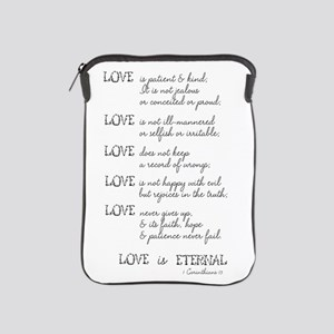 Love is Patient Verse iPad Sleeve