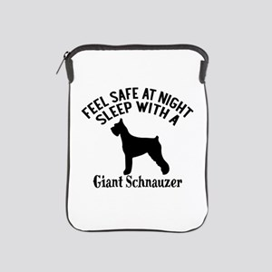 Sleep With Giant Schnauzer Dog Designs iPad Sleeve