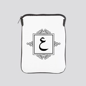 Ayn Arabic letter 3 A monogram iPad Sleeve