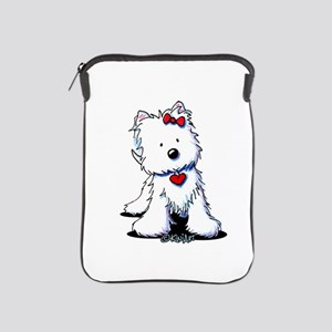 Westie Heart Girl iPad Sleeve