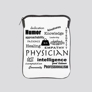 Physician Word Cloud/Black+Medical Bag Ipad Sleeve