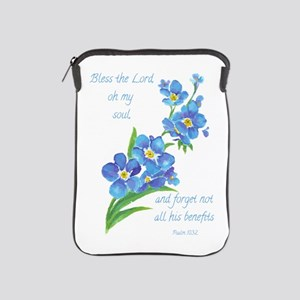 Forget Me Not Flowers With Scripture Ipad Sleeve