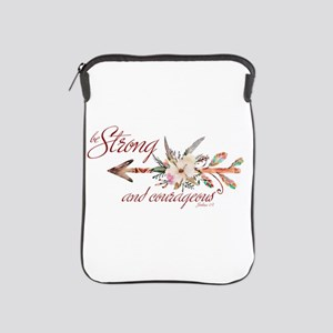 Strong and courageous iPad Sleeve
