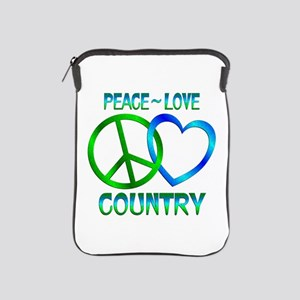 Peace Love Country iPad Sleeve
