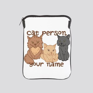 Personalized Cat Person iPad Sleeve