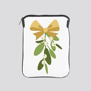 Mistletoe Branch Christmas Decoration iPad Sleeve