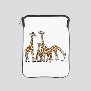 Giraffe Family Portrait In Browns And Ipad Sleeve