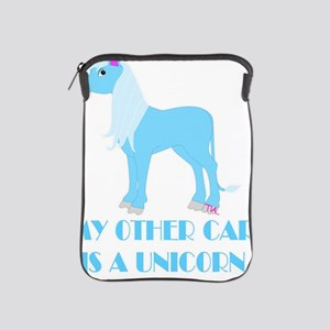 my other car is a unicorn iPad Sleeve