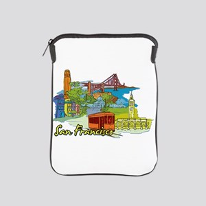 San Francisco Travel Poster iPad Sleeve