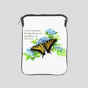Motivational Scripture Butterfly Ipad Sleeve